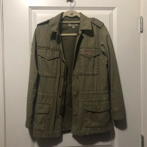 Urban Outfitters Army Jacket with Studs & Patches